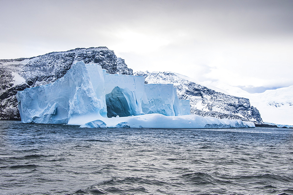 Floating iceberg, Elephant Island, South Shetland Islands, Antarctica, Polar Regions