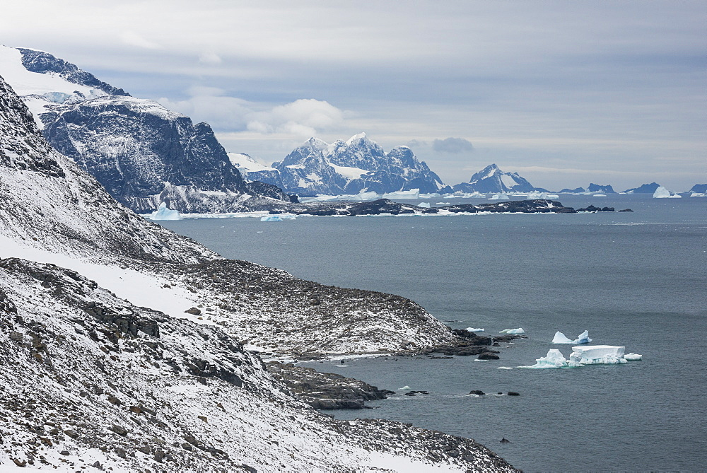 View over Coronation Island, South Orkney Islands, Antarctica, Polar Regions