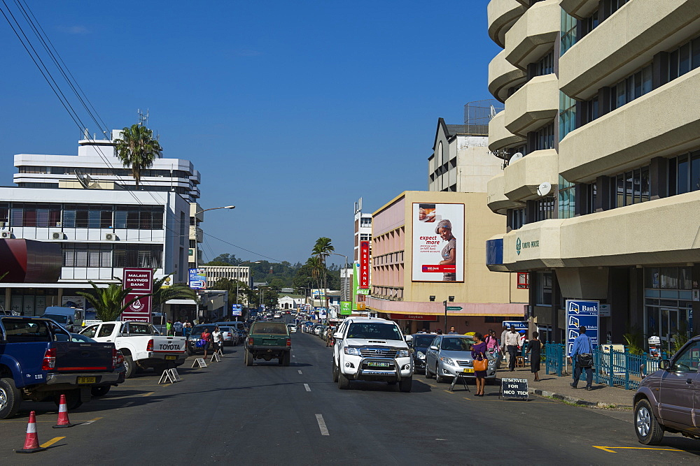 The CBD of Blantyre, Malawi, Africa