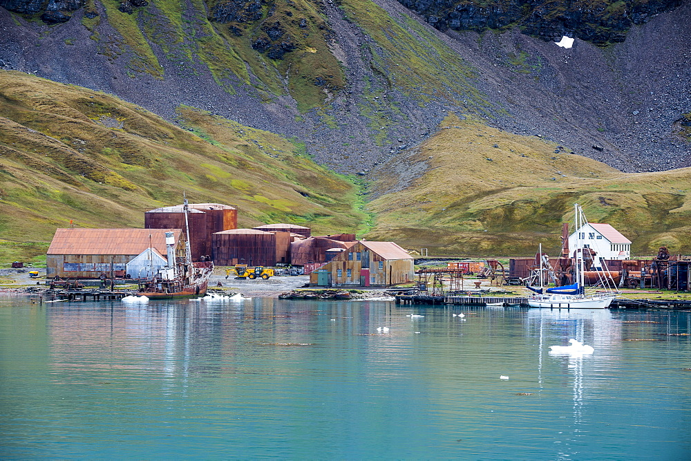 Former whaling station, Grytviken, South Georgia, Antarctica, Polar Regions