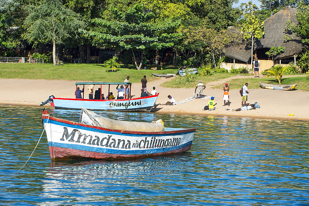 Boats on Lake Malawi, Cape Maclear, Malawi, Africa