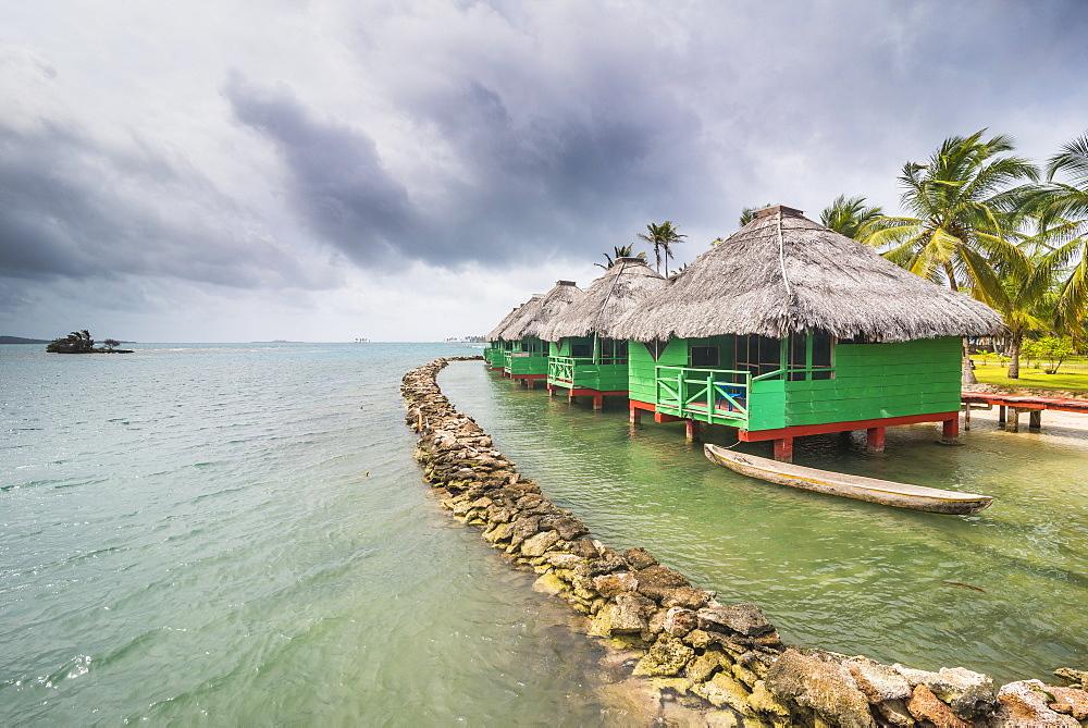 Overwater bungalows, Achutupu, San Blas Islands, Kuna Yala, Panama, Central America