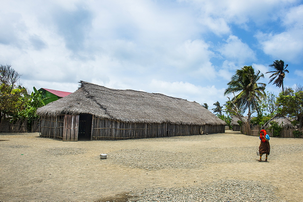 Traditional huts, Achutupu, San Blas Islands, Kuna Yala, Panama, Central America