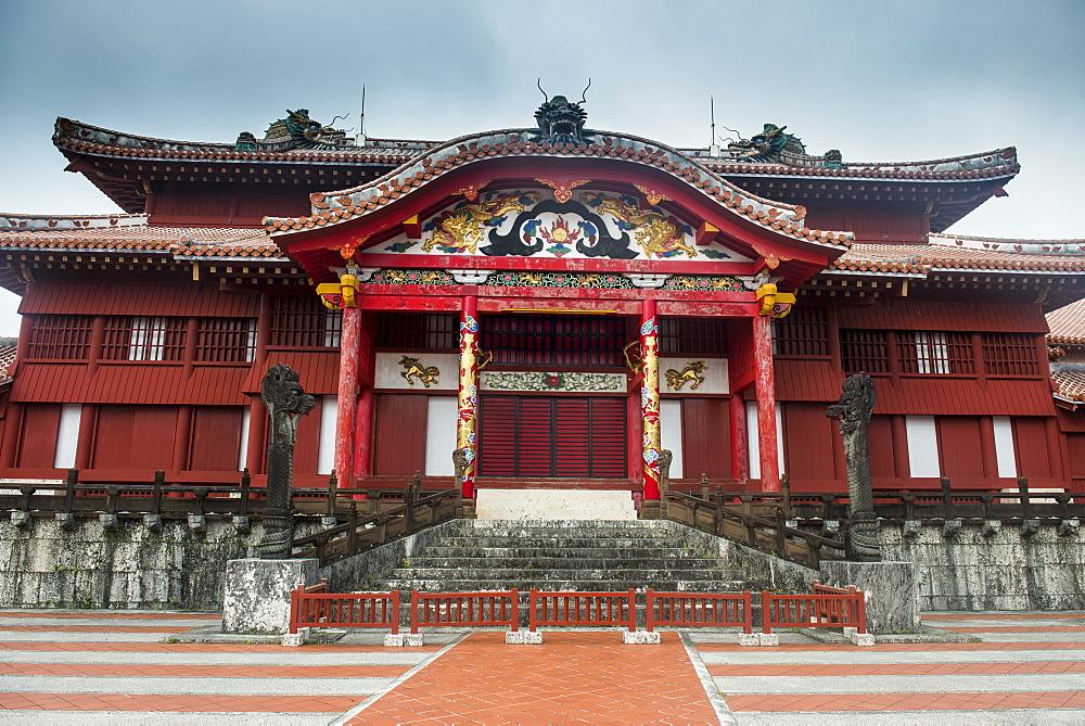 Unesco world heritage sight Shuri castle, Naha, Okinawa, Japan