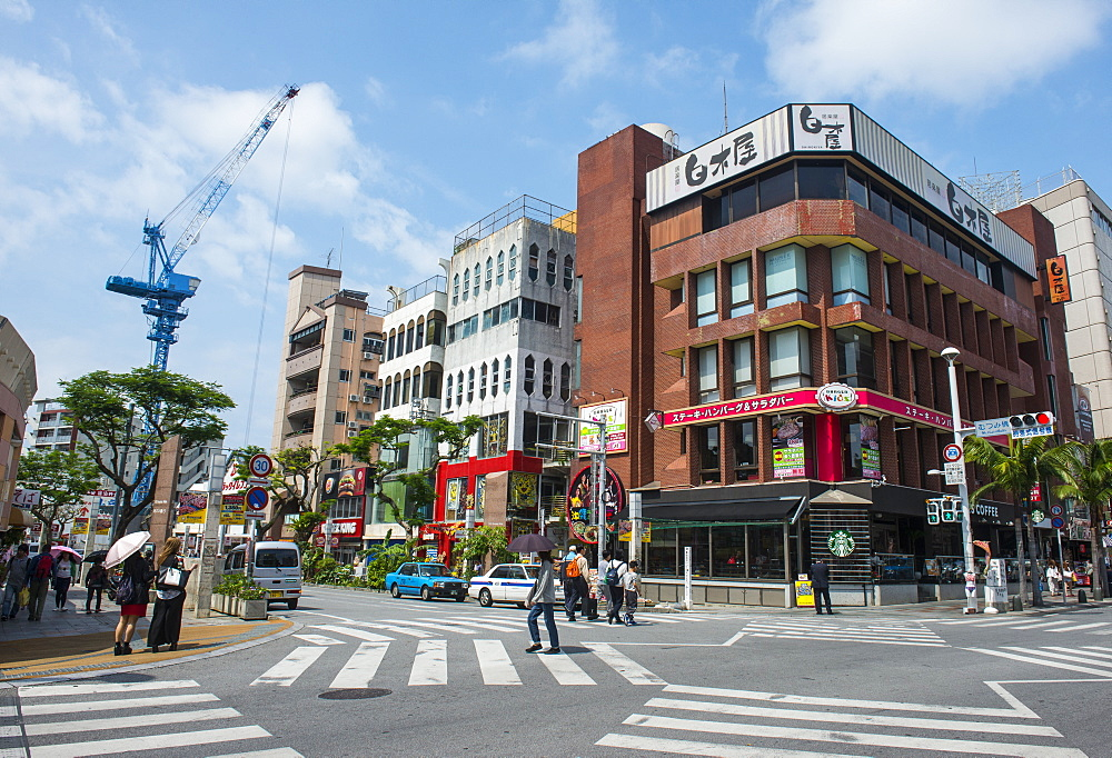 Business district, Naha, Okinawa, Japan