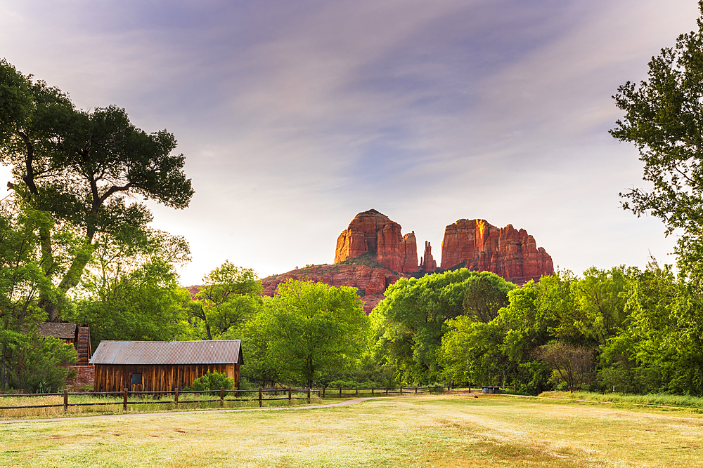 Cathedral Rock seen from Red Rock State Park, Sedona, Arizona, United States of America, North America - 1186-1214