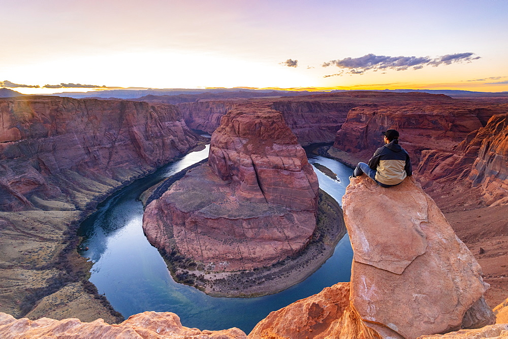 Horseshoe Bend on the Colorado River, Page, Arizona, United States of America, North America