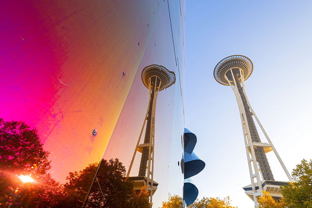 MoPoP museum and space needle Seattle, Washington, United States of America