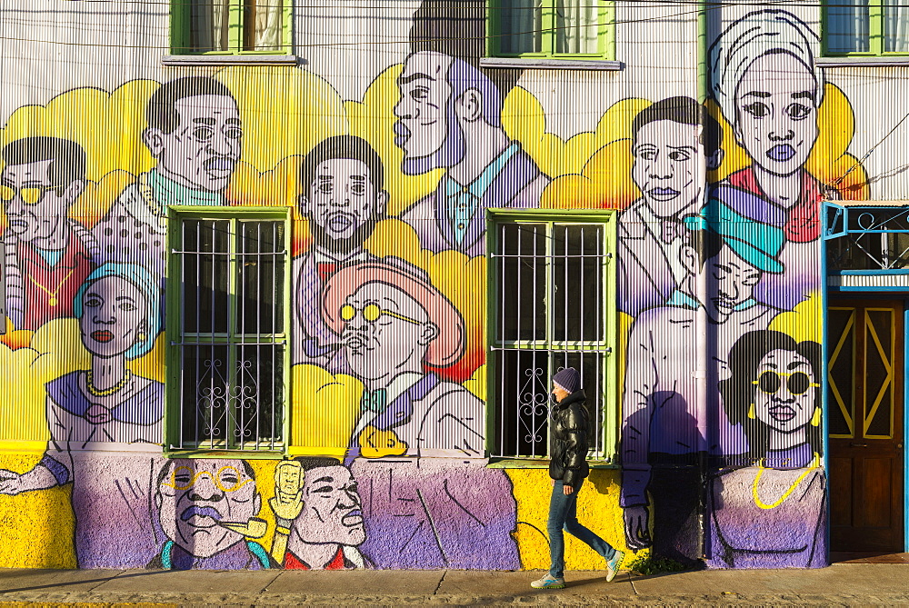 Street art of Valparaiso, Chile, South America - 1186-354