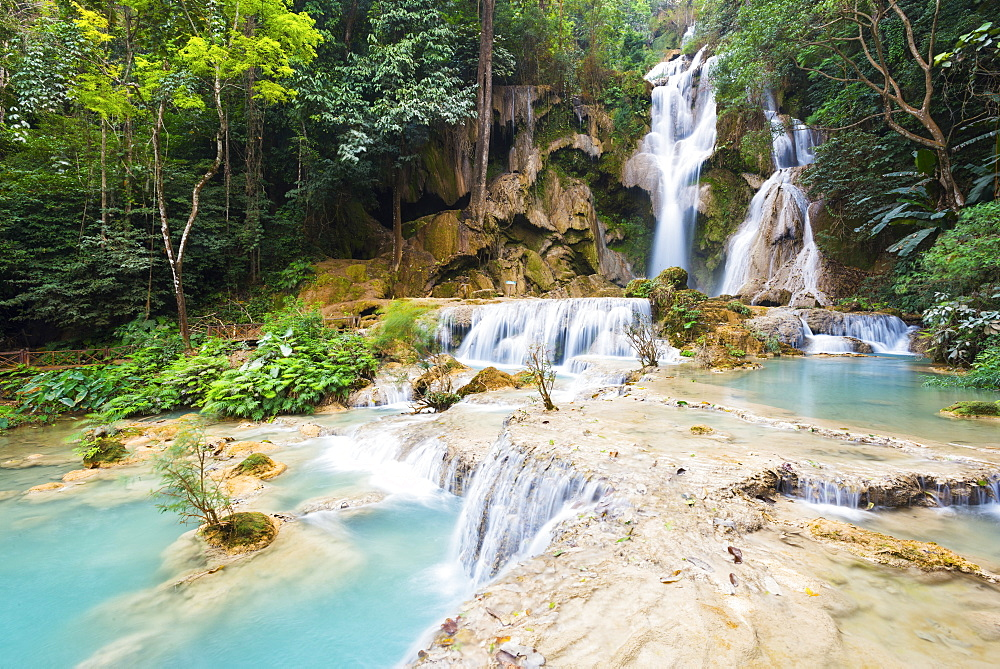 Kuang Si waterfalls, Luang Prabang area, Laos, Indochina, Southeast Asia, Asia
