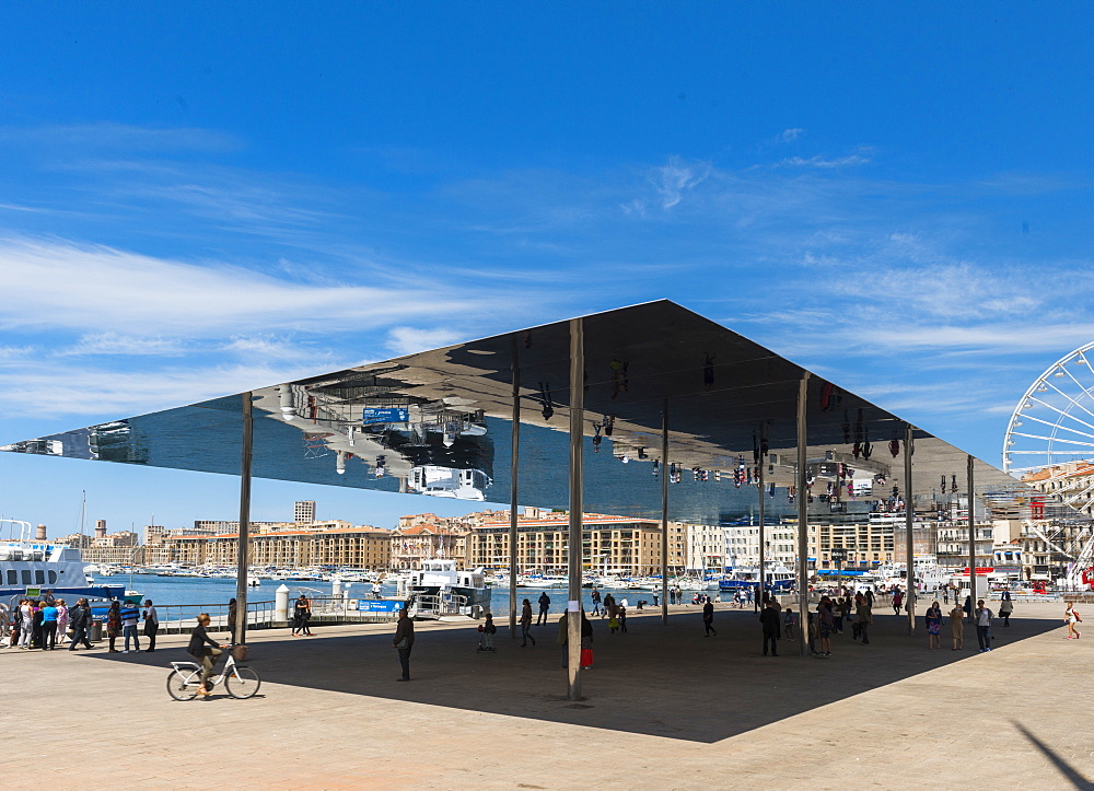 The Port Vieux Pavilion Mirrored Canopy Marseille, Bouches du Rhone, France