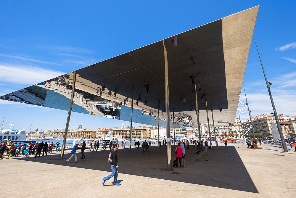 The Port Vieux Pavilion Mirrored Canopy Marseille, Bouches du Rhone, Francee
