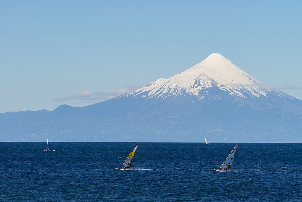 Llanquihue and Volcan Osorno, Puerto Varas, Chilean Lake District, Los Lagos, Chile, South America