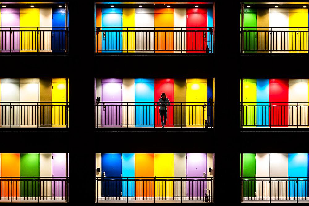 Colourful doors of Soho house