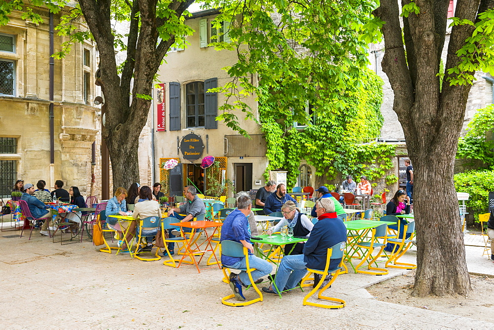Town square St Remy de Provence, Provence, France
