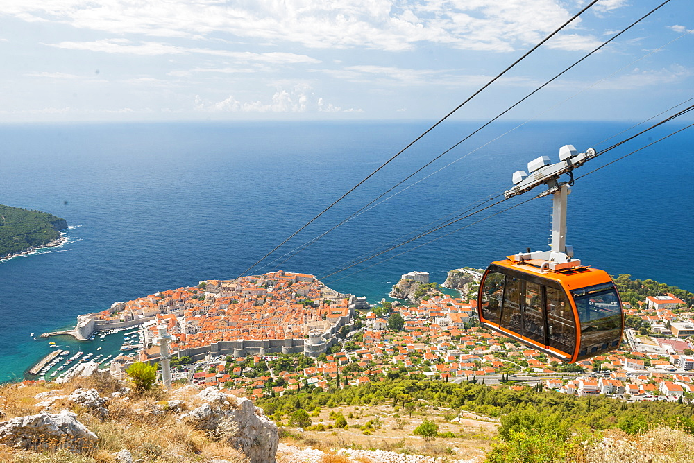 Cable car, Dubrovnik, Croatia, Europe