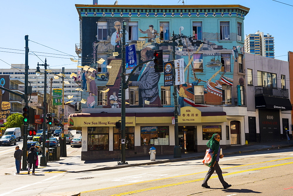 Art work (mural), San Francisco, California, United States of America, North America