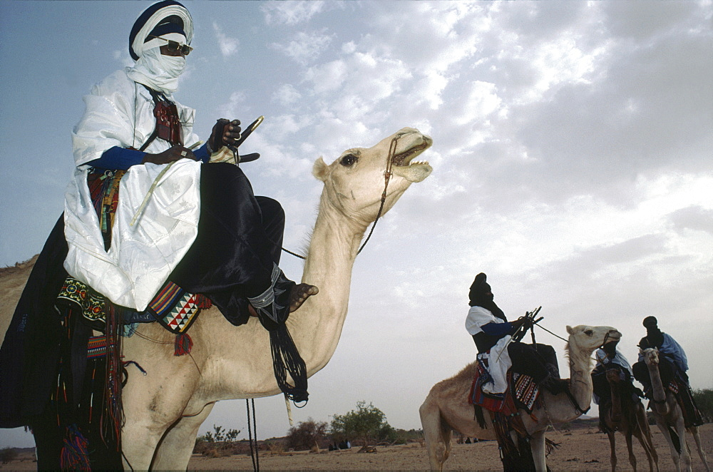 Tuareg nomads, niger (west africa). This nomadic tribe still make a living as traders