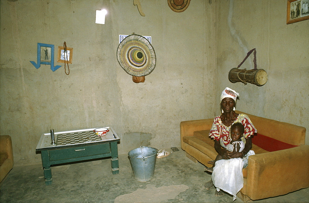 Burkina faso, middle class home. Ouagadougou. Family life