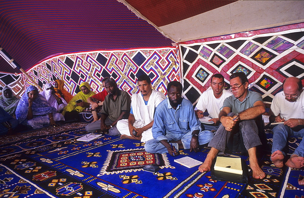Workshops, mauritania. Banc darguin national park. Capacity building workshops for the local imraguen ethnic people by wwf. Priority is given to teaching sustainable fishing practices.