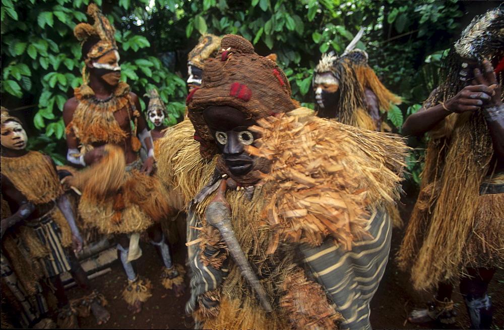 Yakouba tribal dance, ivory coast. Traditional dance