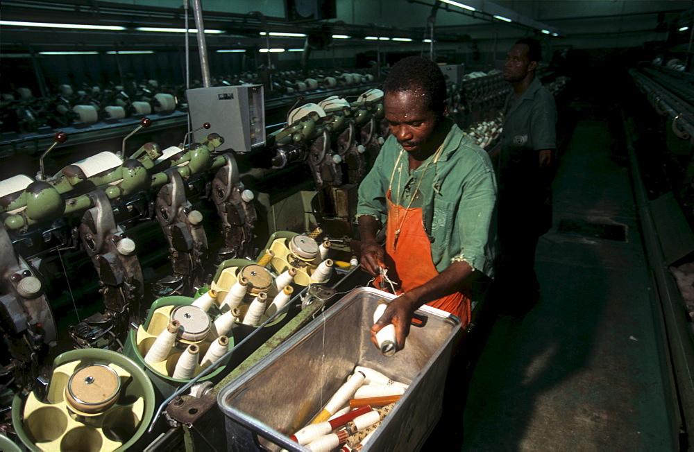 Textile factory, ivory coast. Bouake. Texicobi textile company