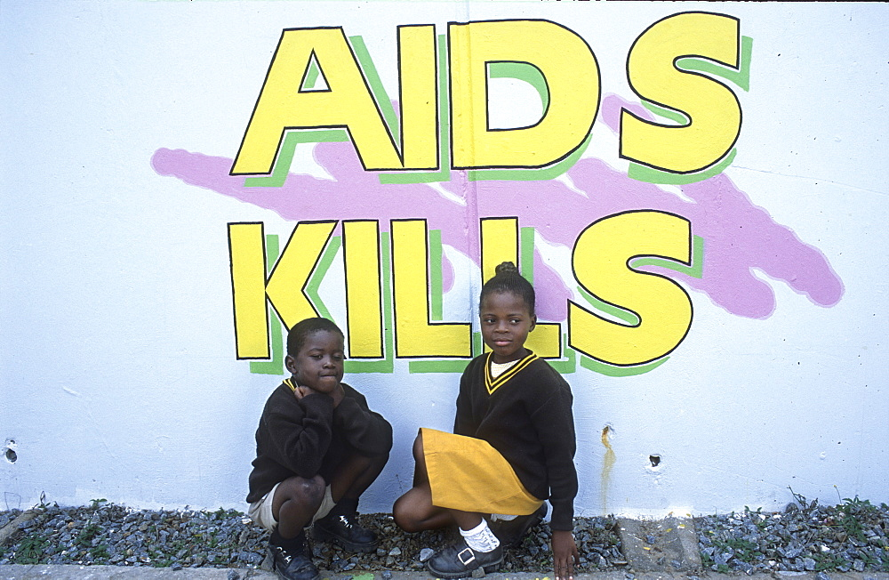 Aids poster, botswana. Francistown. Francistown is the aids capital of the world