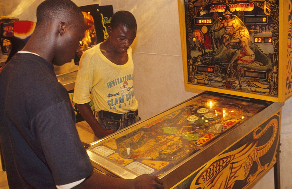 Video games, ivory coast. Abidjan city. Western style games