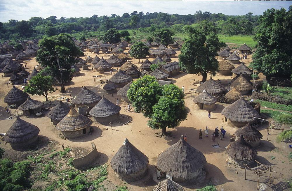 Aerial view, ivory coast. Dioulatiedougou village