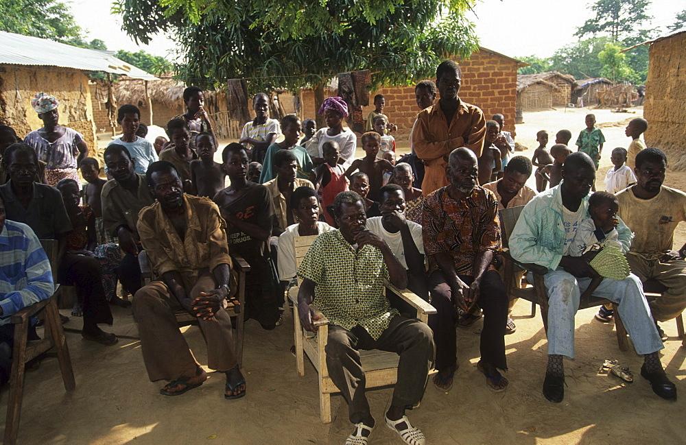Village people, ivory coast. Dioulatiedougou village.