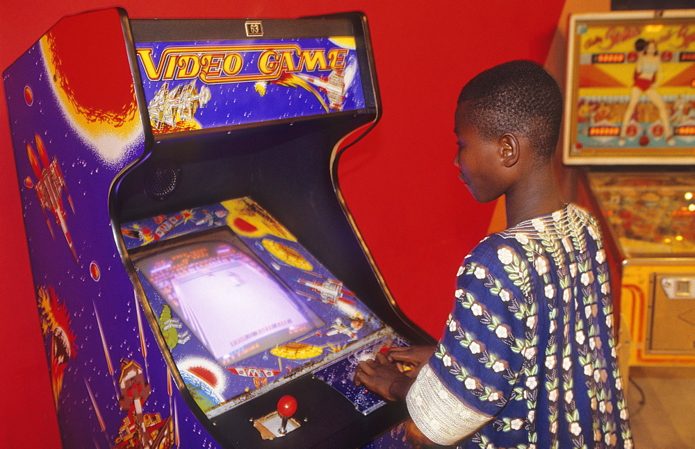 Video games, ivory coast. Abidjan - city. Western style games