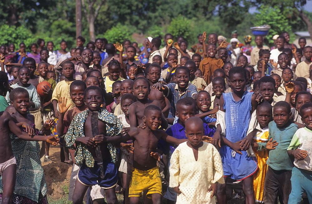 Children, ivory coast. Dioulatiedougou village.
