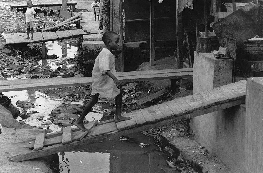 Slum, ghana. Accra