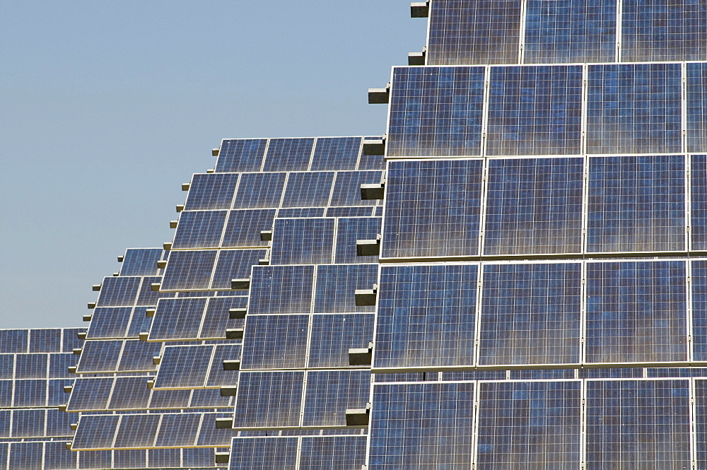 Spain.solar panels creating renewable energy from the sun in andalucia