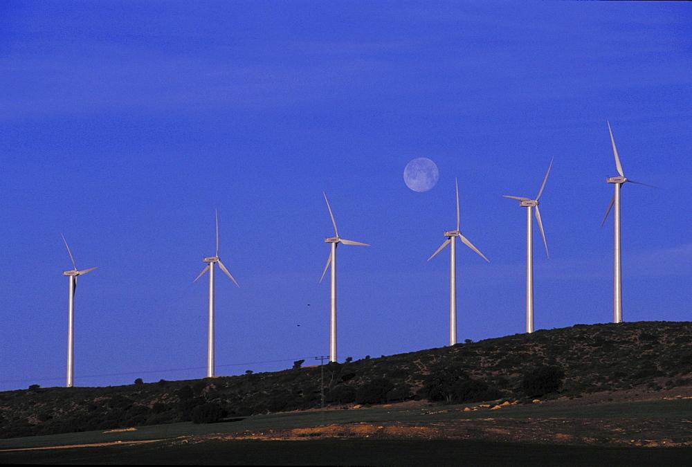 Wind energy, spain. Windmill ecological park near valencia