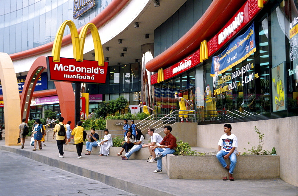 Thailand, macdonalds in a shopping mall in bangkok.