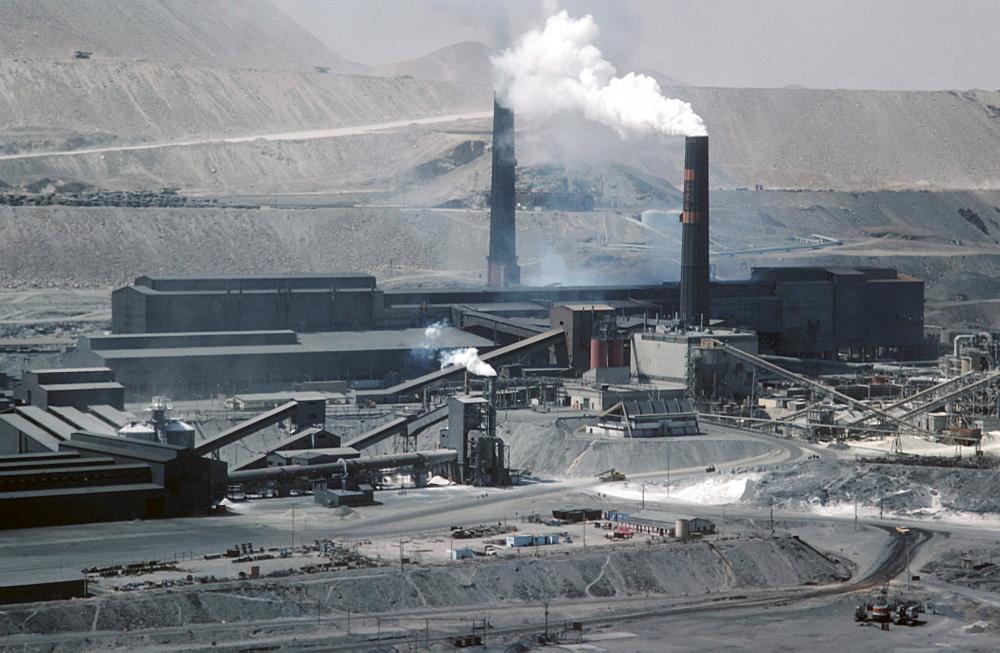 Chile. Chuquicamata open cast copper mine in northern chile.