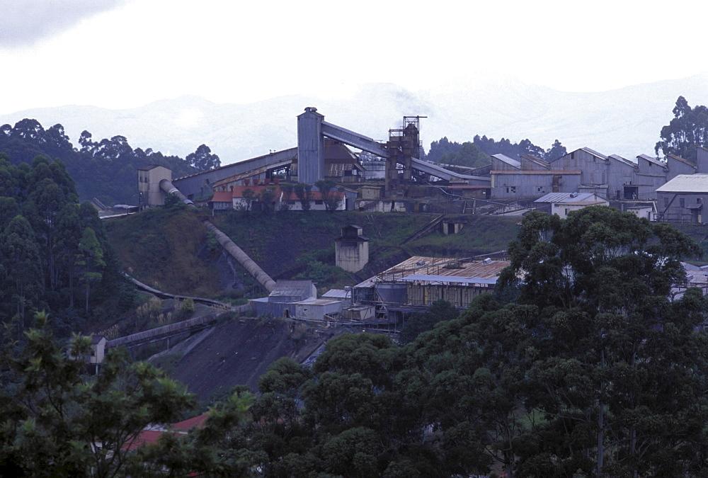 Factory, swaziland. Asbestos factory