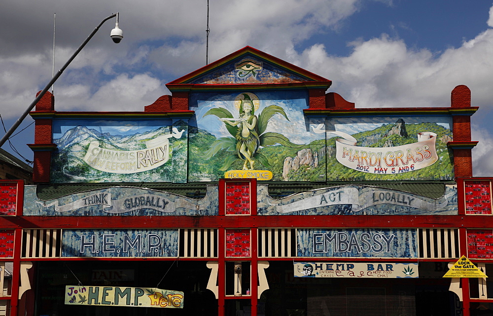 The hippy town of Nimbin, where the 1973 New Age Aquarius festival was held, New South Wales, Australia, Pacific