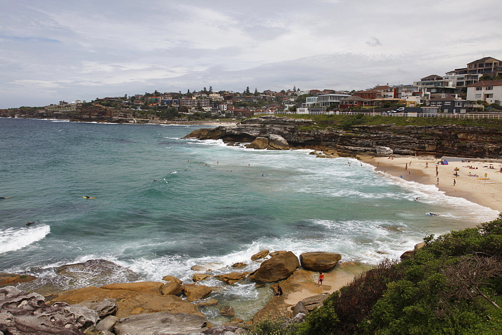 Coastal path from Bondi Beach to Bronte and Congee, Sydney, New South Wales, Australia, Pacific