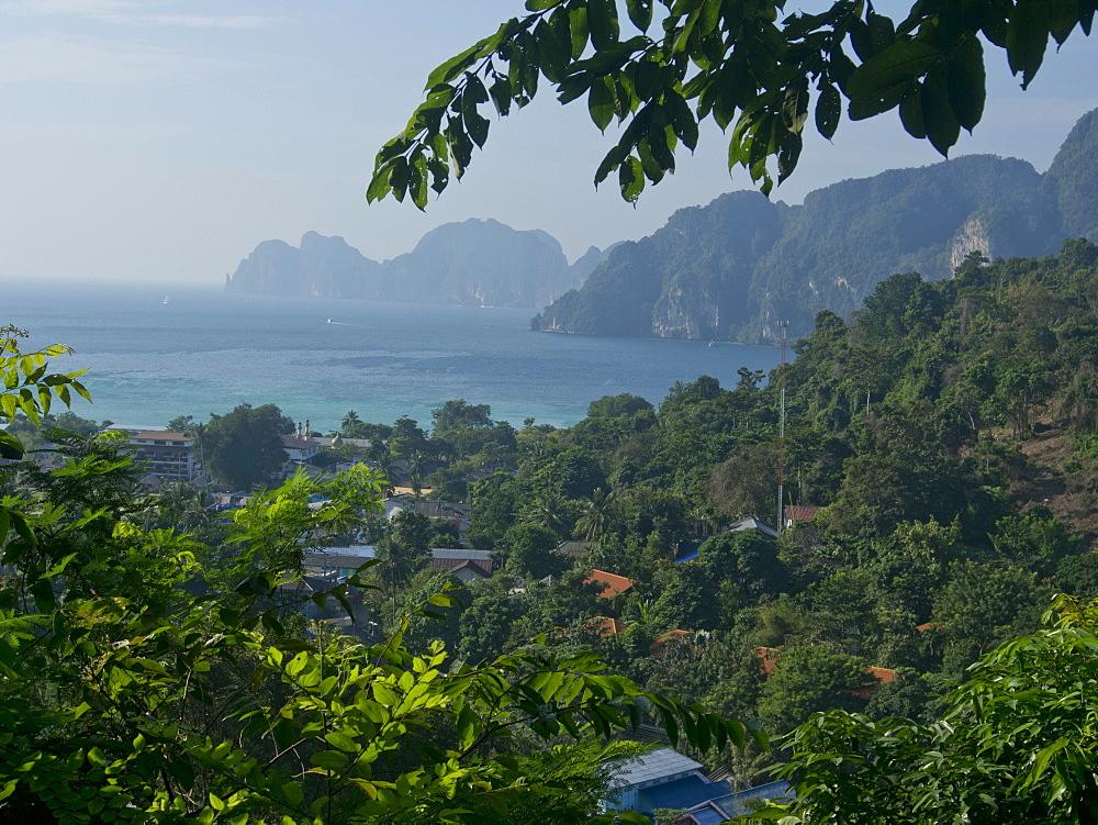 Views of Phi Phi islands, Andaman Sea, Thailand, Southeast Asia, Asia