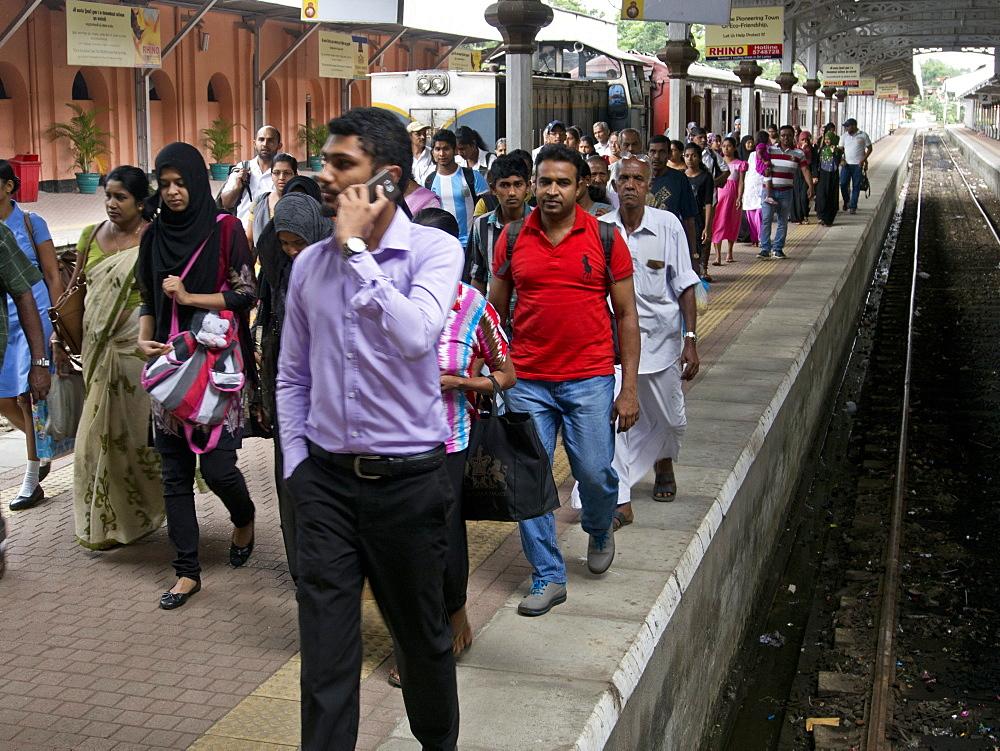 Kandy railway station, Sri Lanka, Asia