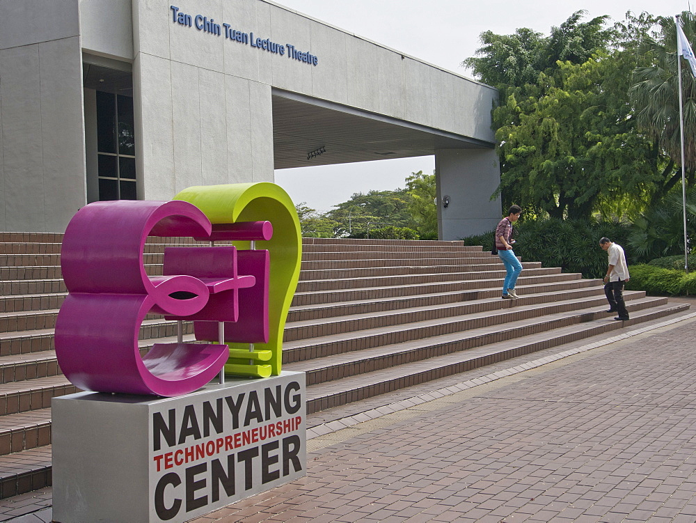 Students at the campus of Nanyang Technical University (NTU) in Singapore, Southeast Asia, Asia