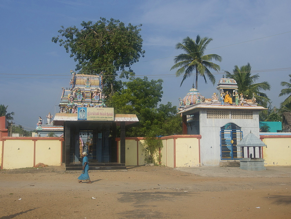 Hindu temple, French union territory of Pondicherry, Tamil Nadu, India, Asia