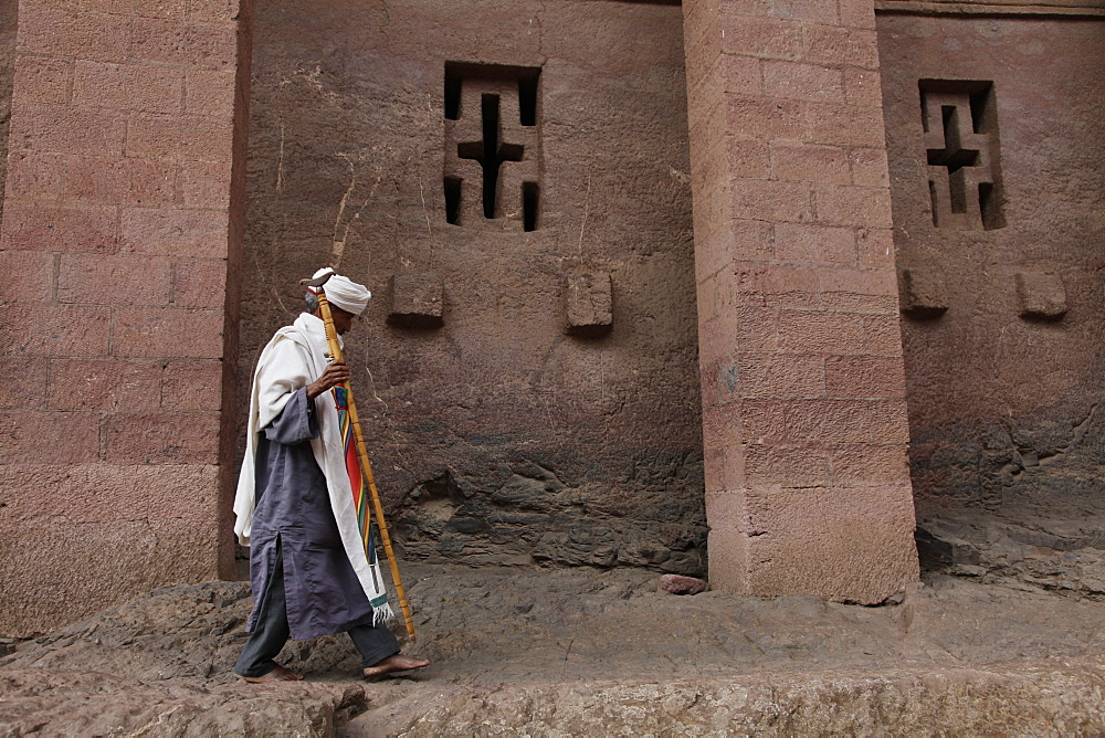 Easter Orthodox Christian religious celebrations in the ancient rock-hewn churches of Lalibela, Ethiopia, Africa - 1188-786