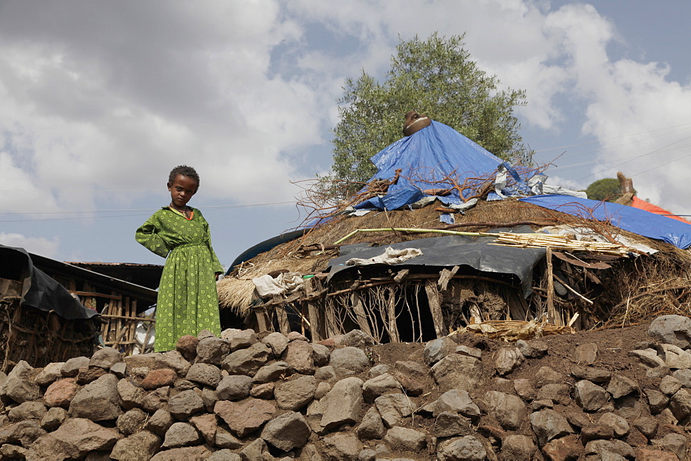 Girl in a farm in the Meket mountains, near the Rift Valley, in Ethiopia, Africa