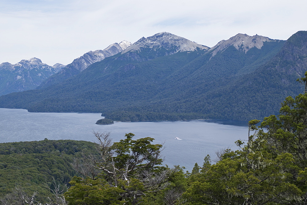 Views of Andes mountains by Lake Nahuel Huapi in Bariloche, Argentina, South America - 1188-884
