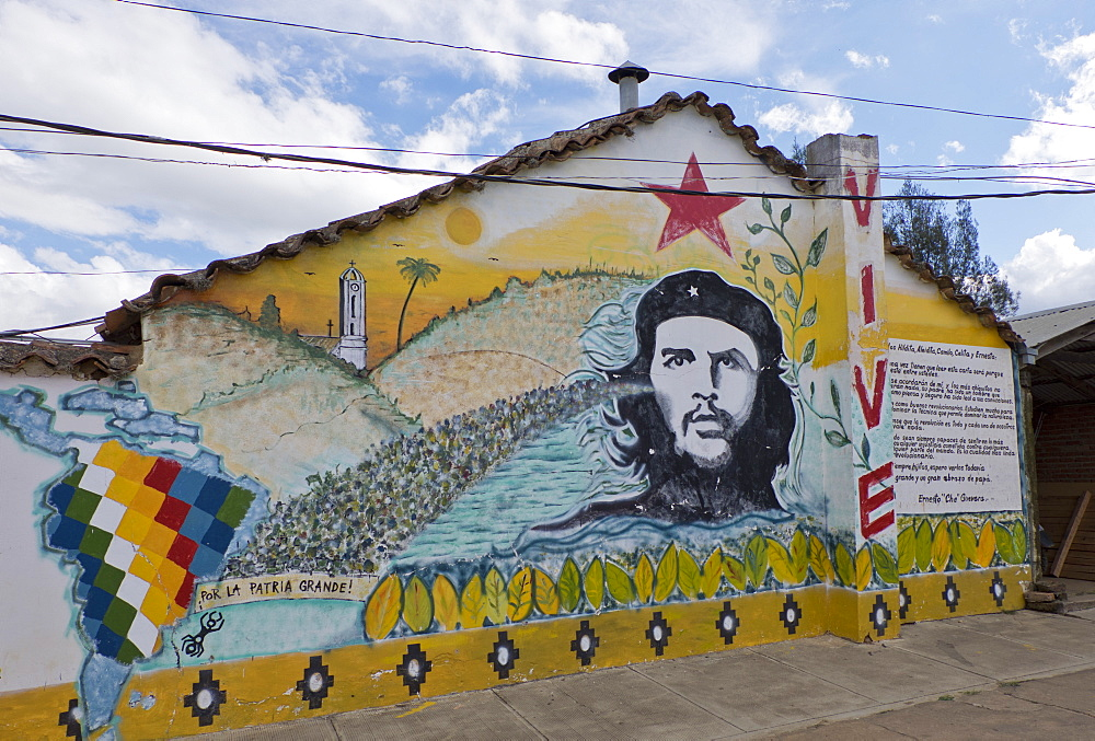 Che Guevara memorabilia in Vallegrande, Bolivia, South America - 1188-899
