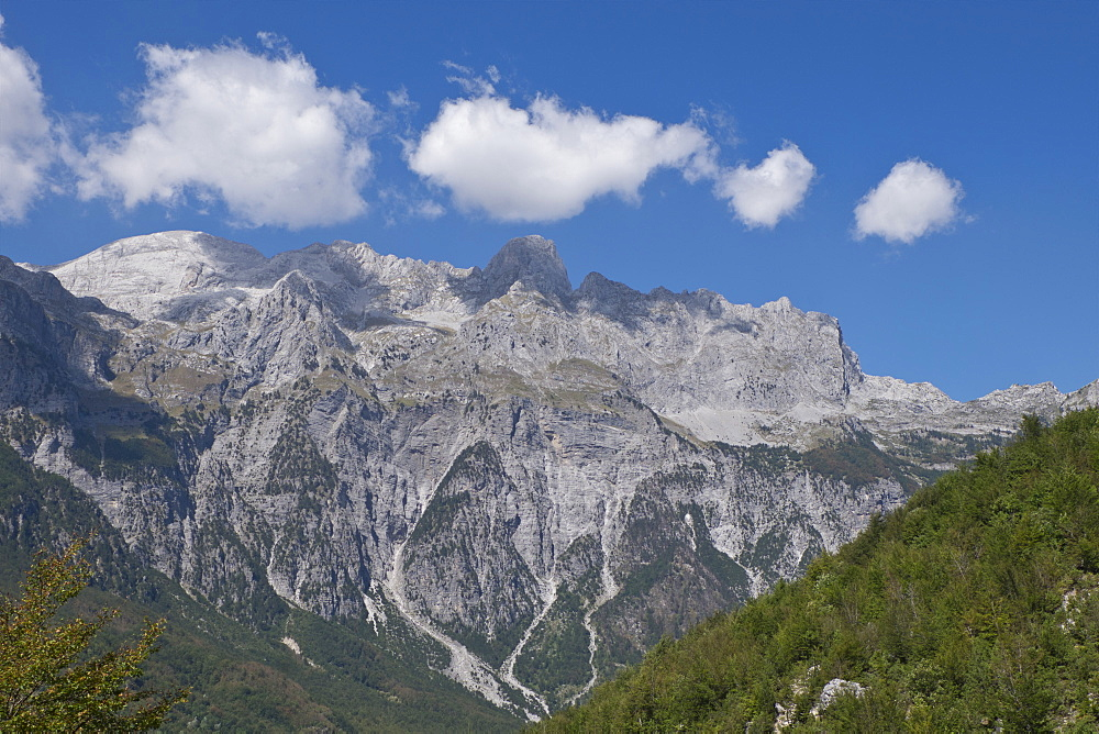 View of the Albanian Alps near Thethi, on the western Balkan peninsula, in northern Albania, Europe - 1188-902