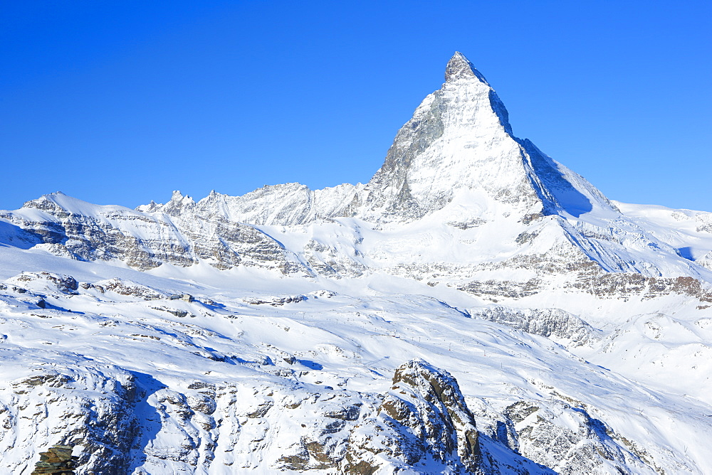 Matterhorn, 4478 m, Zermatt, Valais, Swiss Alps, Switzerland, Europe - 1189-62